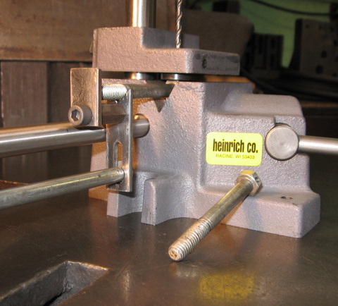 Heinrich Company Hand Operated Cross Hole Drill Jig